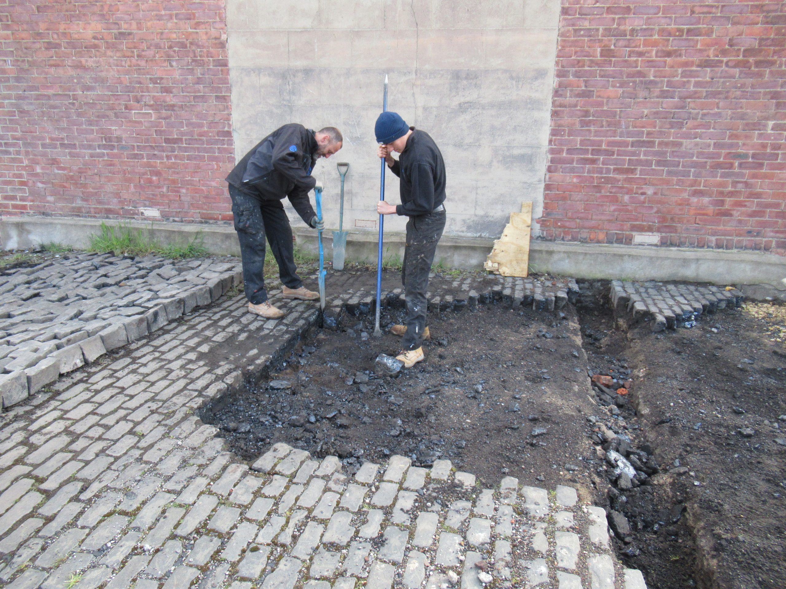 12th May 2021 relaying and leveling of cobbles